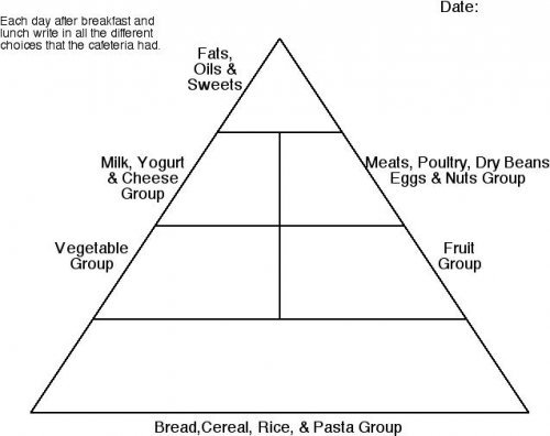 Blank Food Pyramid For Kids Picture Pictures to pin on Pinterest