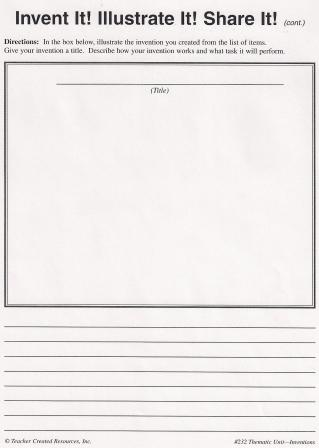 Printables Create Your Own Worksheet invention process worksheet 2