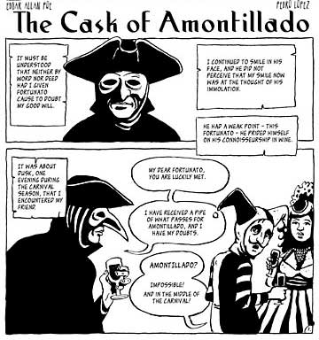 the cask of amontillado rewriting The climax of the cask of amontillado occurs when montresor seals his drunken nemesis fortunato into an alcove in his wine cellar the man is buried.