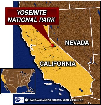 Yosemite Our Threatened Inheritance Introduction - National parks locations map