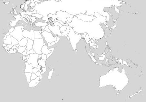 Eastern Hemisphere Map With Countries eastern hemisphere map labeled