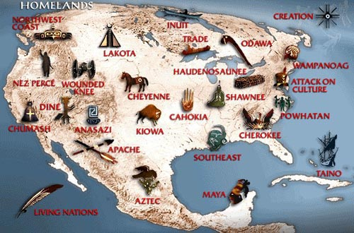 Indian Tribe Map Us - Indian nation map us