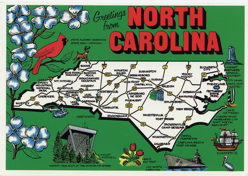 The Regions of North Carolina Introduction – North Carolina Travel Map