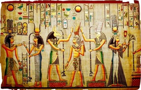 Realm of graphic design history october 2012 for Ancient egyptian mural